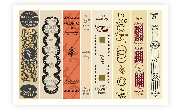 virginia woolf book spines