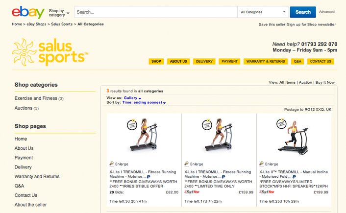 Salus Sports Ebay Seller Store