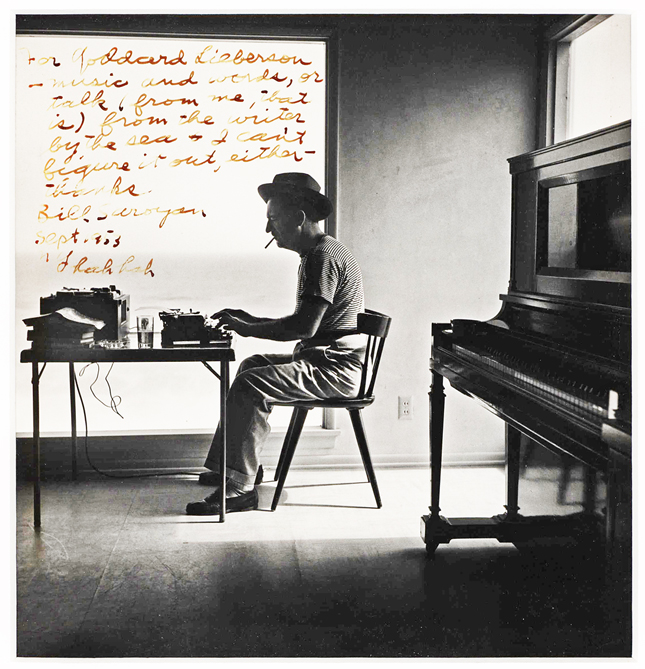William Saroyan typing